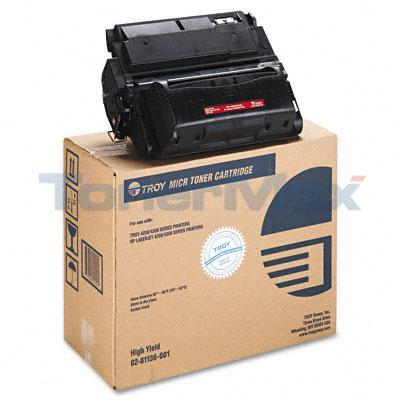 TROY 4250 4350 MICR TONER CART BLACK 20K